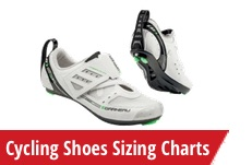 Cycling Shoes Charts