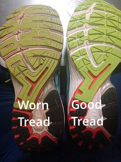 Good vs. Worn Running Shoes